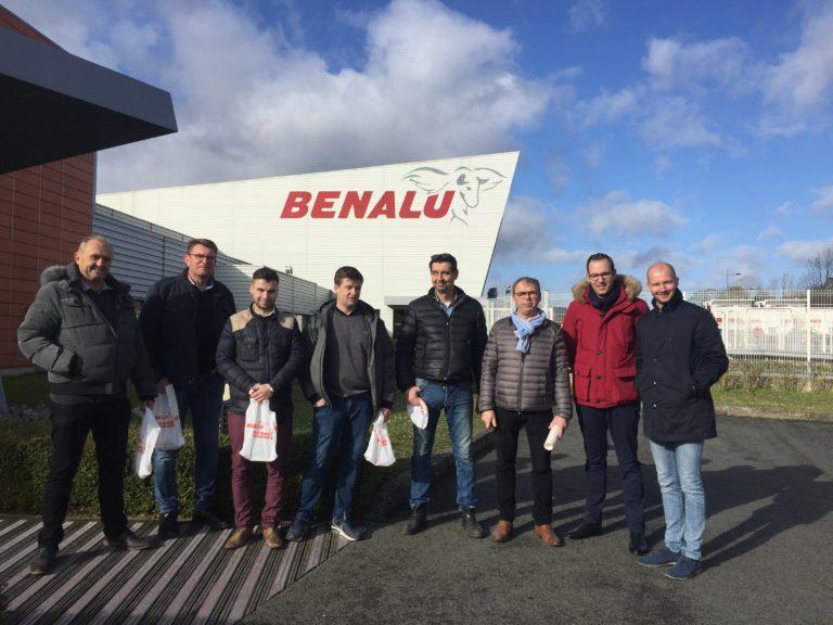 Une équipe bien soudée pour la visite BENALU !