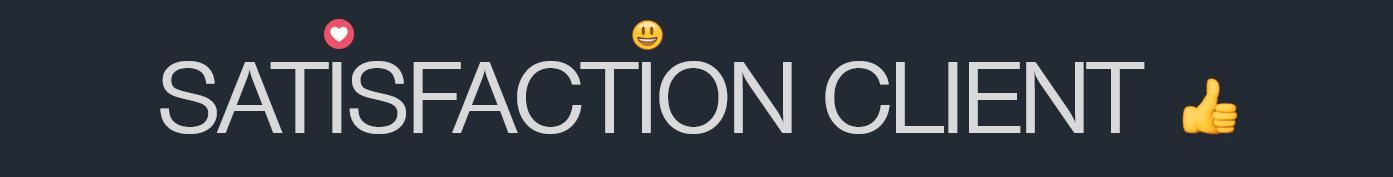 Page société - satisfaction